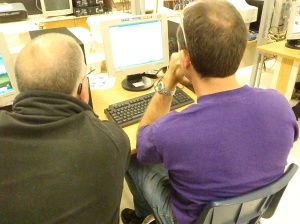 mentors looking at programming