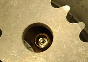 valve holes in sprockets