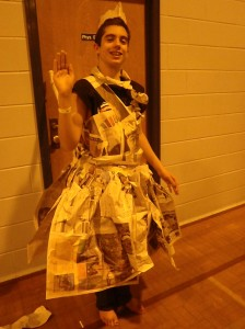 newspaper fashion show
